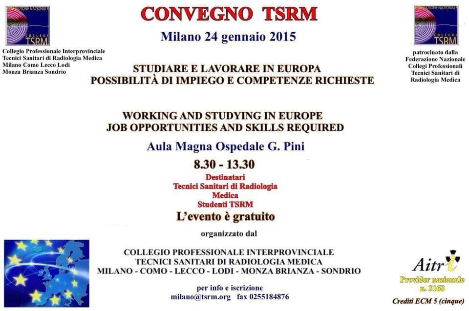 """Corso ECM gratuito """"Studiare e lavorare in Europa: possibilità di impiego e competenze richieste"""""""