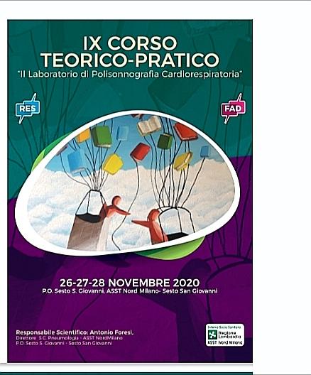 """IX CORSO TEORICO-PRATICO: """" Il laboratorio di polisonnografia cardiorespiratoria """""""
