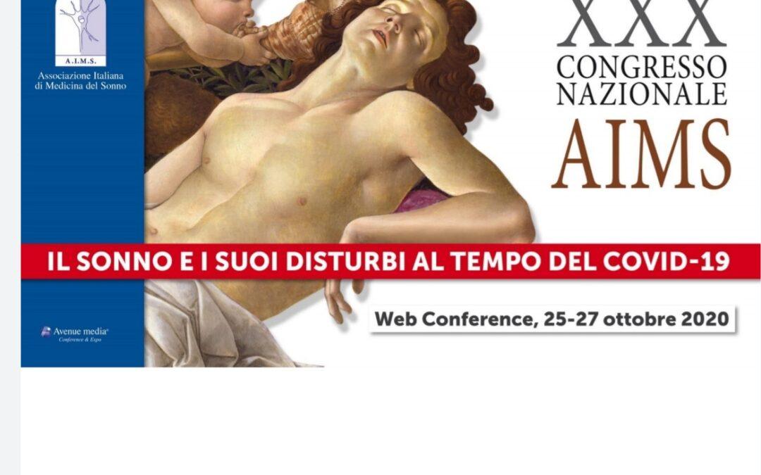 """XXX CONGRESSO NAZIONALE AIMS: """" Il sonno e i suoi disturbi al tempo del covid-19 """""""