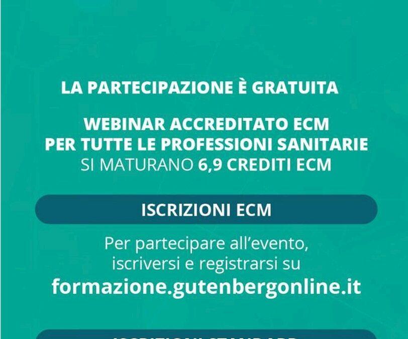 Webinar gratuito accreditato Ecm per tutte le Professioni Sanitarie