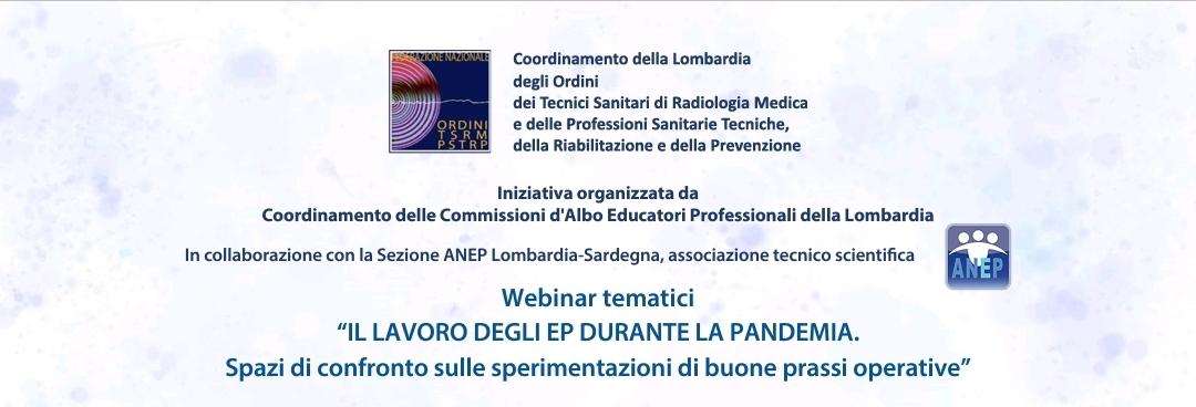 Ciclo di webinar organizzati dal Coordinamento Regionale Commissioni d'Albo EP